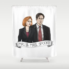 MR& MRS SPOOKY Shower Curtain