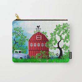 Red Barn with Old Truck Carry-All Pouch
