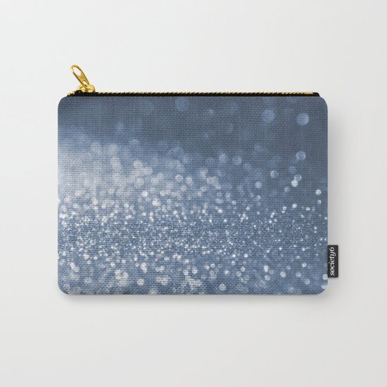 Sparkling sea foam- Aqua Blue glitter effect background on #Society6 Carry-All Pouch