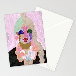 Original Artwork by Nina Sencar, Puppet Lady Pinko Stationery Cards