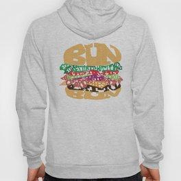 Word Drawing Burger Hoody