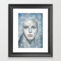 Winter or Snow Queen Framed Art Print