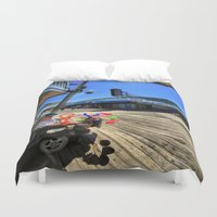 mad hatter Duvet Covers featuring mAD hATTER by gymmybob