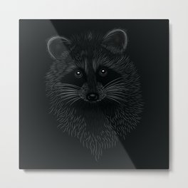 Raccoon Totem Animal Metal Print