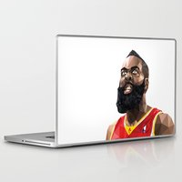 nba Laptop & iPad Skins featuring James Harden by Roland Banrevi