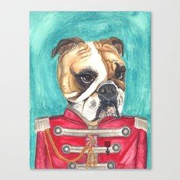 Sergeant Pepper Bulldog Canvas Print