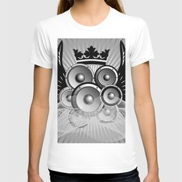 Abstract music illustration with wings T-shirt