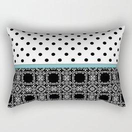 A combined decorative pattern . Rectangular Pillow
