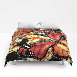 Resting Monarchs Comforters