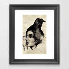 Trying  to forget my crow... Framed Art Print