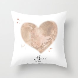 Mars in love Throw Pillow