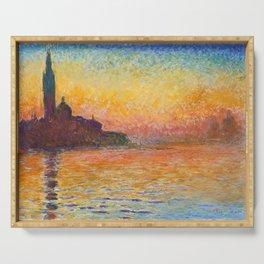 Claude Monet - San Giorgio Maggiore by Twilight - Impressionism Serving Tray