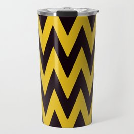 Team Spirit Chevron Yellow and Black Travel Mug