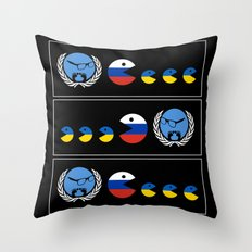 United Nations Russia and Ukraine Throw Pillow