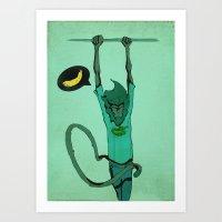 goku Art Prints featuring Goku by le karibou aux fesses sales