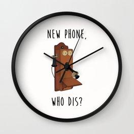 New Phone, Who Dis? Wall Clock