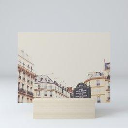 Place Sartre Beauvoir Mini Art Print