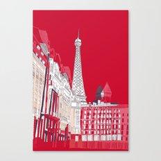 Glorious Paris - Red Canvas Print