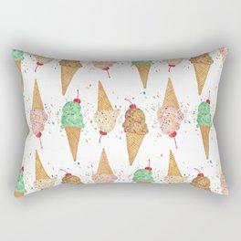 I Scream Pattern Rectangular Pillow