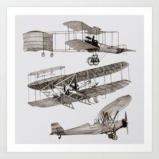 airplanes 3 Art Print