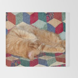 Cat Napping Throw Blanket