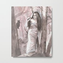 Woods Witch Metal Print