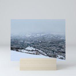 Sarajevo under the snow Mini Art Print