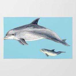 Blue Bottlenose dolphin Rug