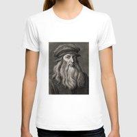 da vinci T-shirts featuring Leonardo da Vinci by Palazzo Art Gallery