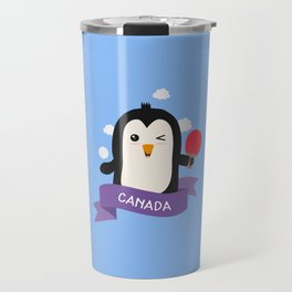Penguin table tennis from CANADA T-Shirt Travel Mug