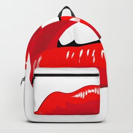 Sexy Red Lips Backpack