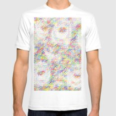 Candy Circles Pattern Mens Fitted Tee White MEDIUM