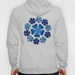 Winter Flower Snowflake Hoody