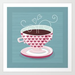 Romantic Coffee  (Tea) Art Print