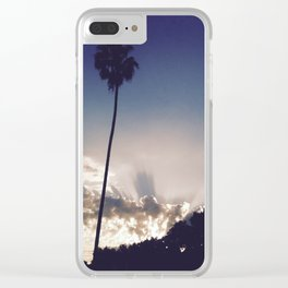 'Solitary Palm' Clear iPhone Case