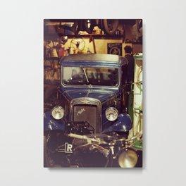 Nostalgic mechanics garage Metal Print