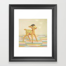 Dancing Deer Framed Art Print