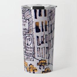 Retro New York City Sketch Travel Mug