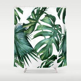 Simply Island Palm Leaves Shower Curtain