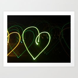 Love in Lights Art Print