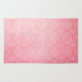 Red Watercolor Tile Rug