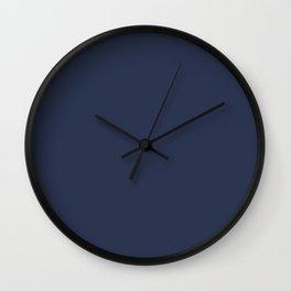 Solid Color Grey Cerulean Wall Clock