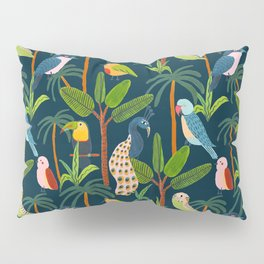 Jungle Birds Pillow Sham