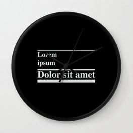 Lorem ipsum, dolor sit amet Wall Clock