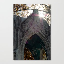 Temple in the eye Canvas Print