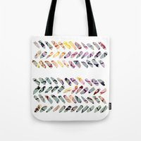 the strokes Tote Bags featuring others strokes by clemm