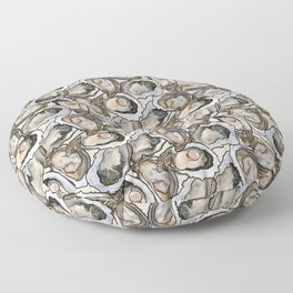 Oyster Seafood Fiesta in Cream Floor Pillow