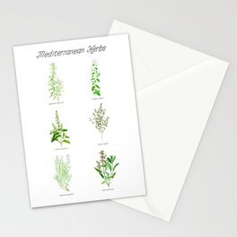 Mediterranean Herbs Stationery Cards