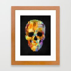 Skull Grunge Paint Black Framed Art Print