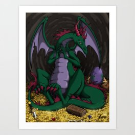 The Dragon Mother Art Print